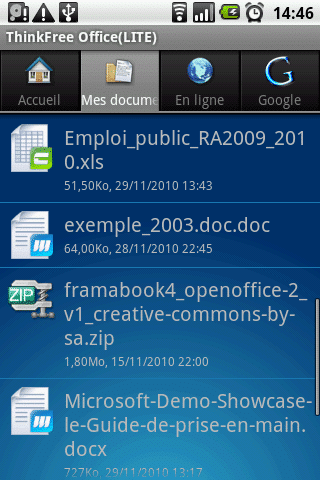 file_explorer thinkFree Office