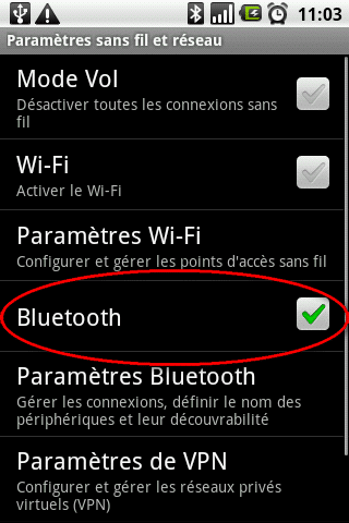 activer bluetooth android