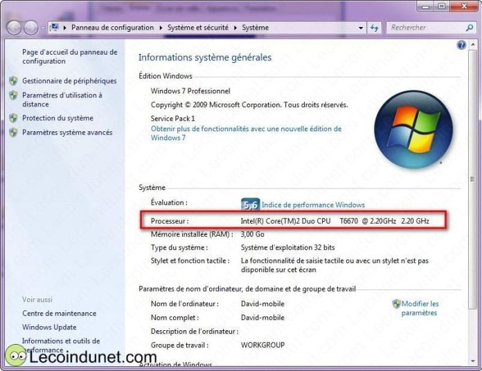 exemple cpu windows 7
