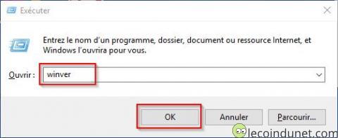 Windows - Executer winver