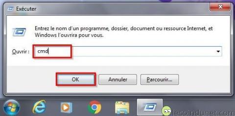 Windows - Ouvrir Invite de commandes avec Exécuter - CMD