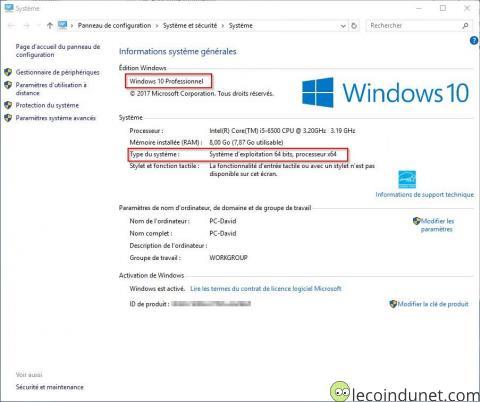 Windows 10 - Version de Windows