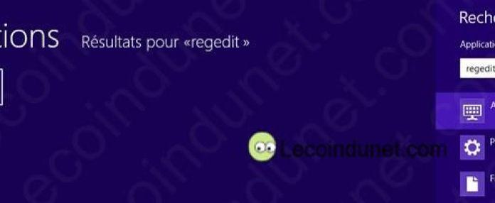 regedit