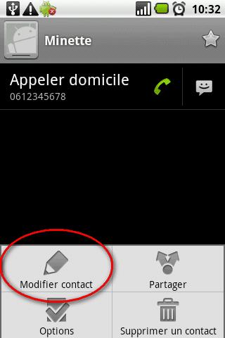 Ajouter une photo à un contact sur Android