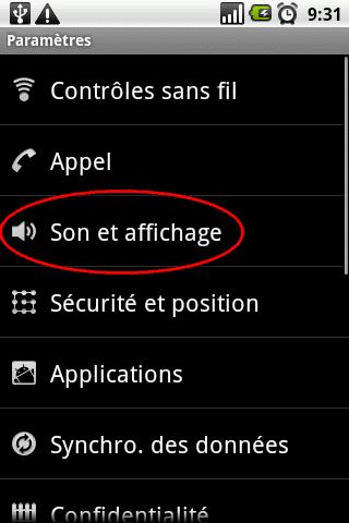 Activer la rotation automatique de l'écran sur Android