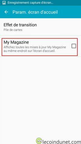 Galaxy S5 - Désactiver My Magazine