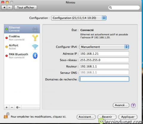 Mac OS - Réseau
