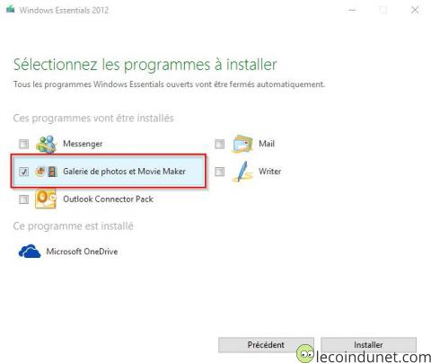 Windows Essential 2012 - Sélection Movie Maker