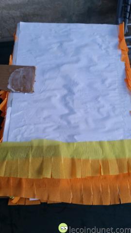 Pinata - collage papier crepon