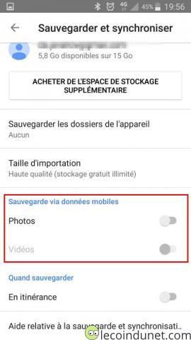 Google photos - Sauvegarder photos et vidéos avec données mobiles