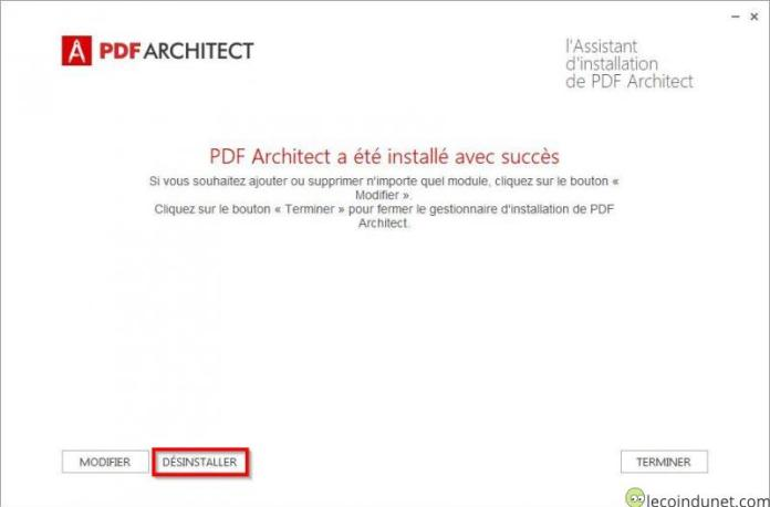 PDF Architect - Désinstaller