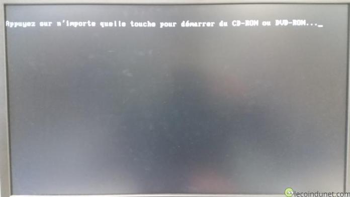 Windows 7 - Appuyer sur une touche pour démarrer à partir du CD ou DVD
