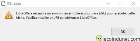Erreur JRE LibreOffice