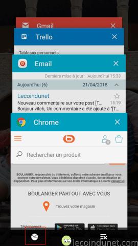 Gestionnaire des tâches Android - Processus actifs