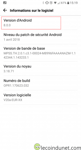 LG G6 - mise à jour Android 8 Oreo