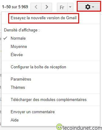 Gmail - Nouvelle version
