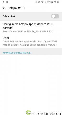Android - Configurer hotspot WiFi