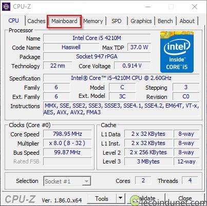CPU-Z - Accueil