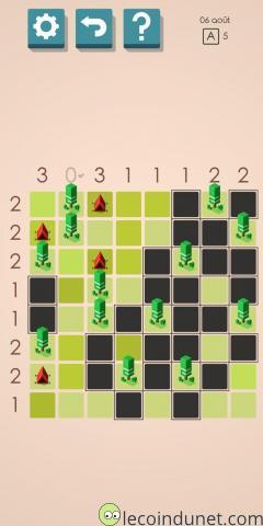 Des tentes et des arbres - Puzzle