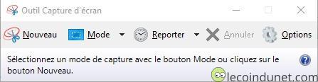 L'outil de capture d'écran intégré à Windows