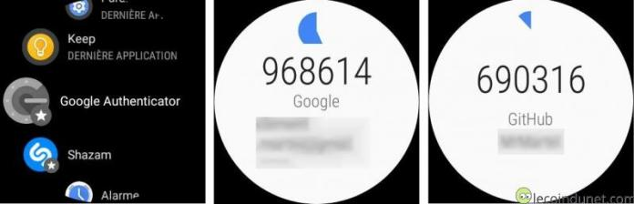 Google Authenticator - Android Wear