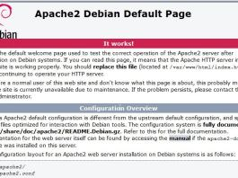 Debian - Apache it works
