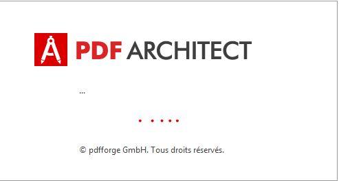 PDF Architect - Lancement