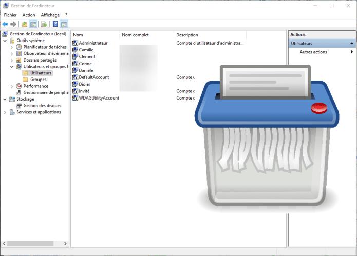 Comment supprimer un compte utilisateur dans Windows 10 ?