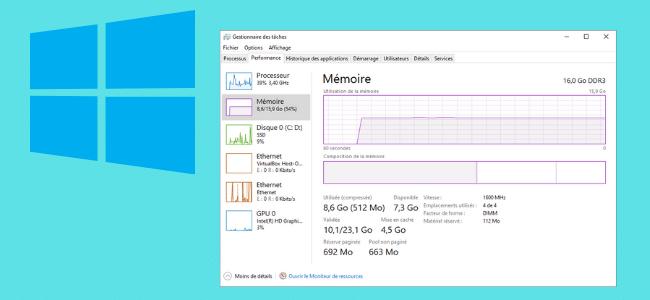 Obtenir les détails de la mémoire RAM d'un PC Windows