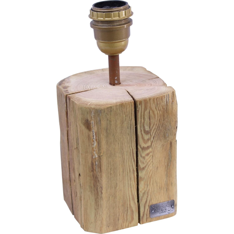 pied de lampe cop ow vieux bois