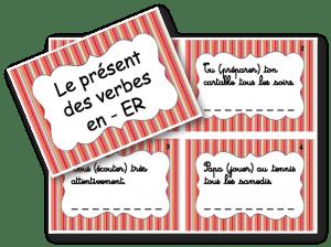 cartes à tâches verbes en ER