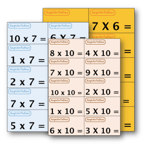 rapide aux tables de multiplication