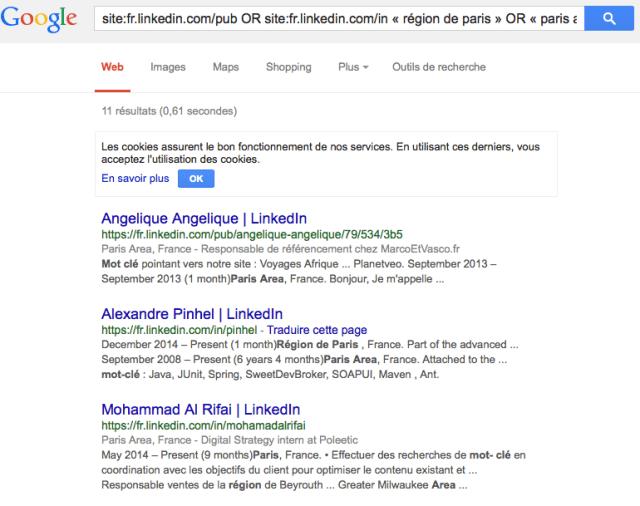 recherche sourcing linkedin 2015