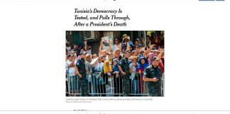 new york times-transition démocratique en Tunisie