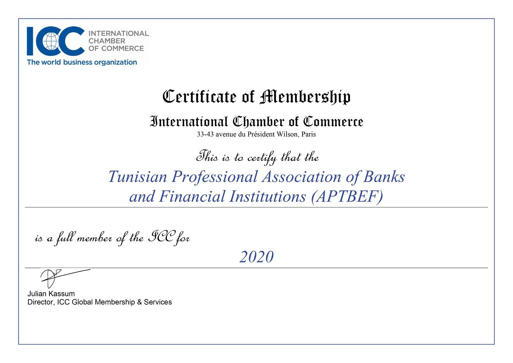 Aptfbef devient membre de la chambre de commerce - Chambre internationale de commerce ...