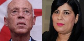 Abir Moussi et Kaïs Saïed