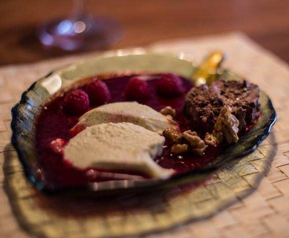Creme bavaroise, mousse au chocolat