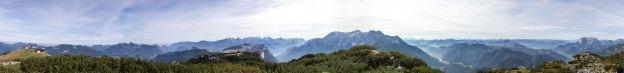Panorama Steinplattengipfel