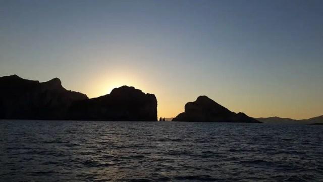 Palmarola tramonto