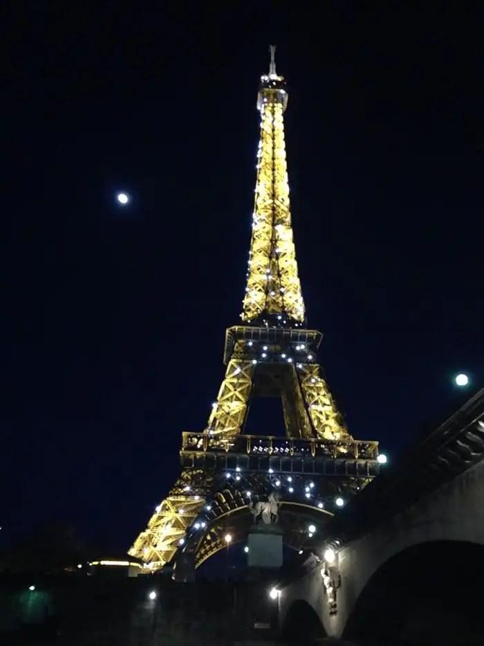 Spettacolo delle luci della Torre Eiffel
