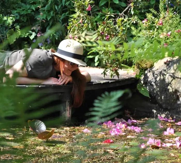 Roberta Ferrazzi all'Heller Garden di Gardone Riviera