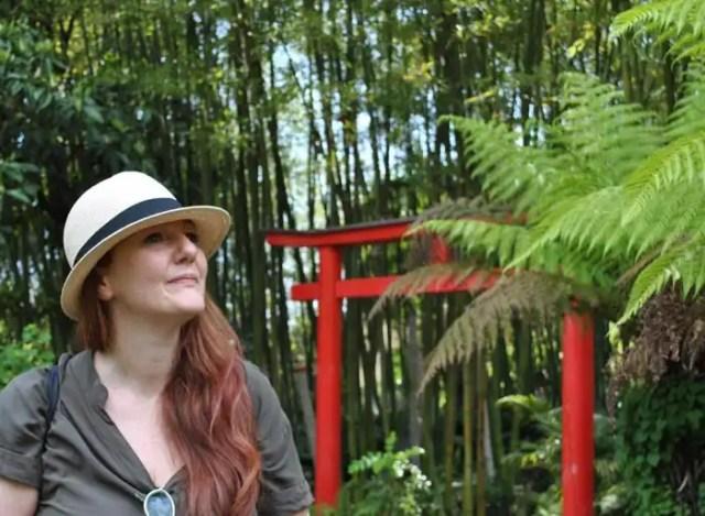 Roberta Ferrazi in visita a Heller Garden