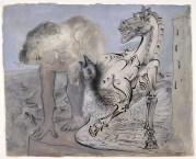 Picasso - Faune, cheval et oiseau