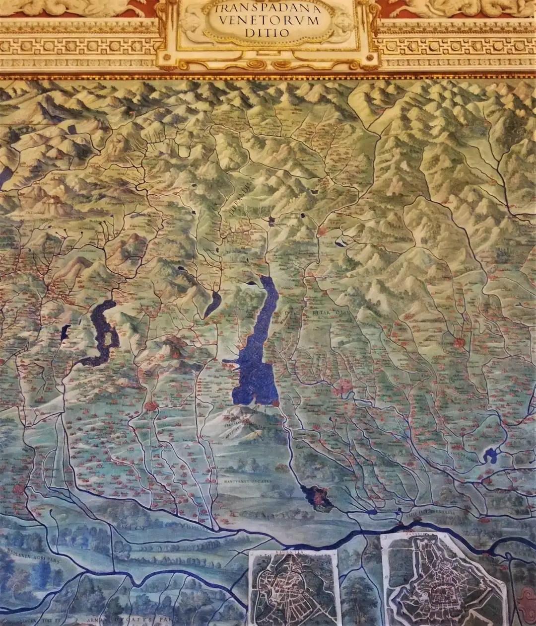 Galleria delle Carte Geografiche nei Musei Vaticani di Roma