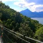 Ponte tibetano sul Lago di Garda: un ponte sospeso di 34 metri lungo il percorso trekking da Pai a Crero
