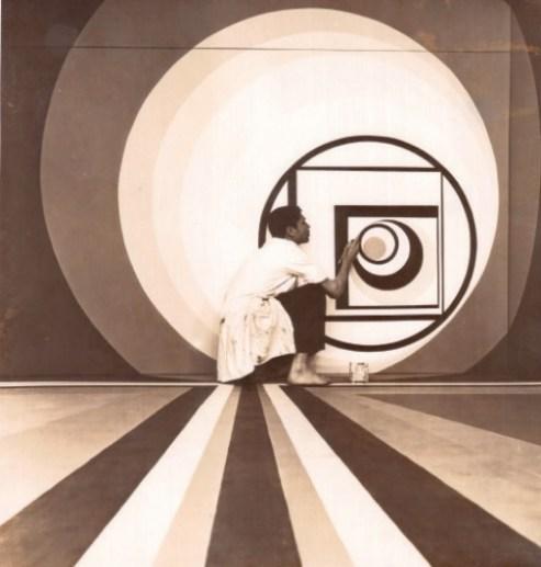 """Exposition """"Maroc, une identité moderne"""" à l'Institut du monde arabe de Tourcoing - Mohamed Melehi, L'Etudiant Ali Noury, 1968."""