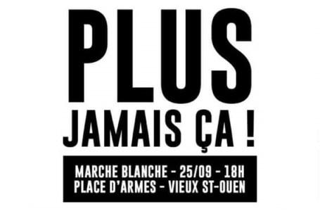 Marche blanche, le 25 septembre 2020 à Saint-Ouen, en hommage à Sofiane Mjaiber et Tidiane Bagayoko, retrouvés morts le 15 septembre 2020.