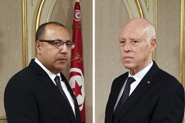Le président de la République tunisienne Kais Saied a entre autre limogé le Premier ministre Hichem Mechichi. STRINGER / PRESIDENCE TUNISIENNE / AFP