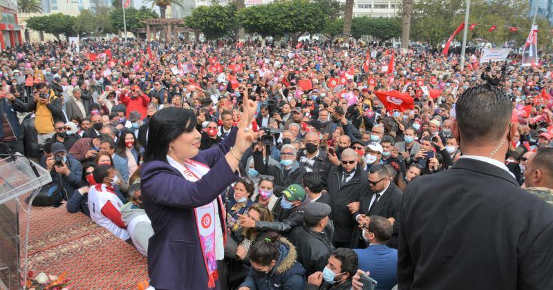 Manifestation - Abir Moussi - PDL - Sousse