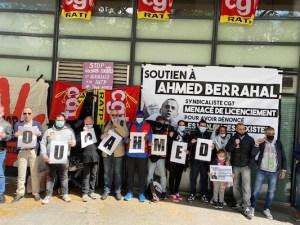 Ratp : Manifestation de soutien à Ahmed Berrahal